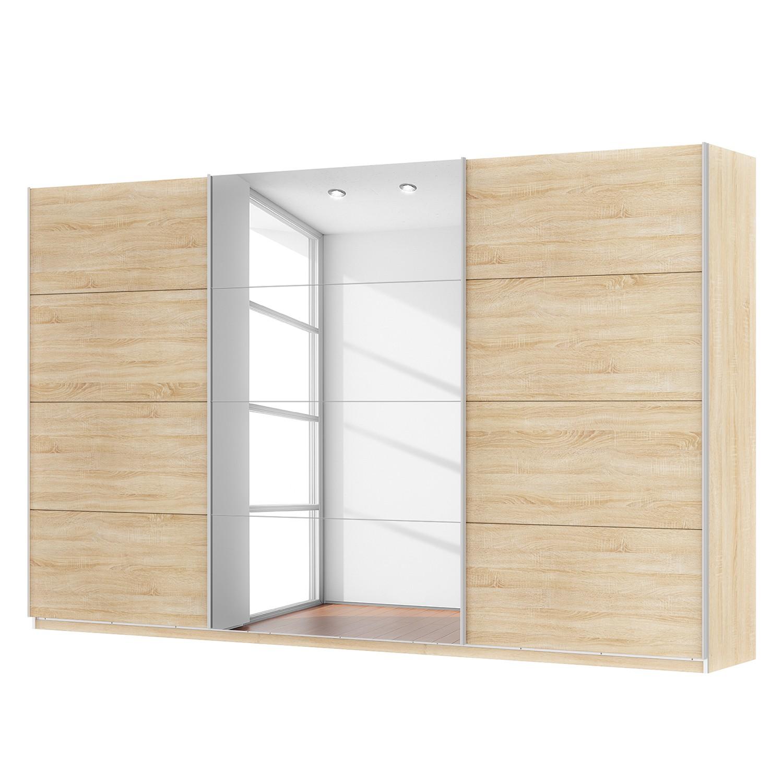 goedkoop Zweefdeurkast Skøp Sonoma eikenhouten look spiegel 360cm 3 deurs 222cm Premium Skop