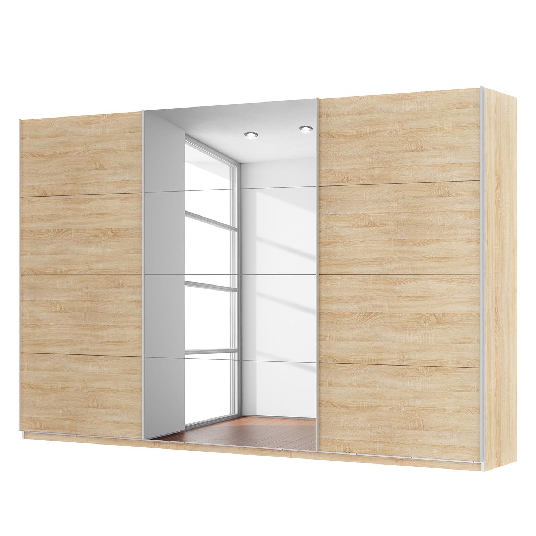 goedkoop Zweefdeurkast Skøp Sonoma eikenhouten look spiegel 360cm 3 deurs 236cm Premium Skop
