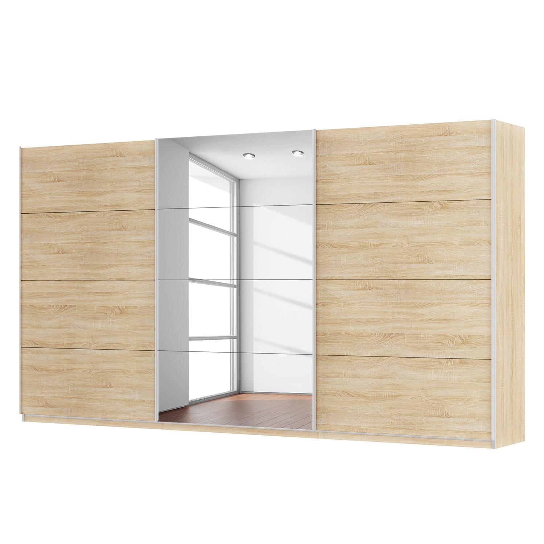 goedkoop Zweefdeurkast Skøp Sonoma eikenhouten look spiegel 405cm 3 deurs 222cm Premium Skop
