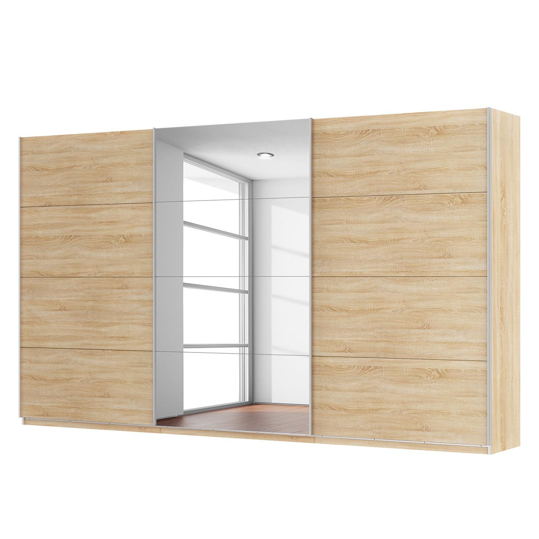 goedkoop Zweefdeurkast Skøp Sonoma eikenhouten look spiegel 405cm 3 deurs 236cm Comfort Skop