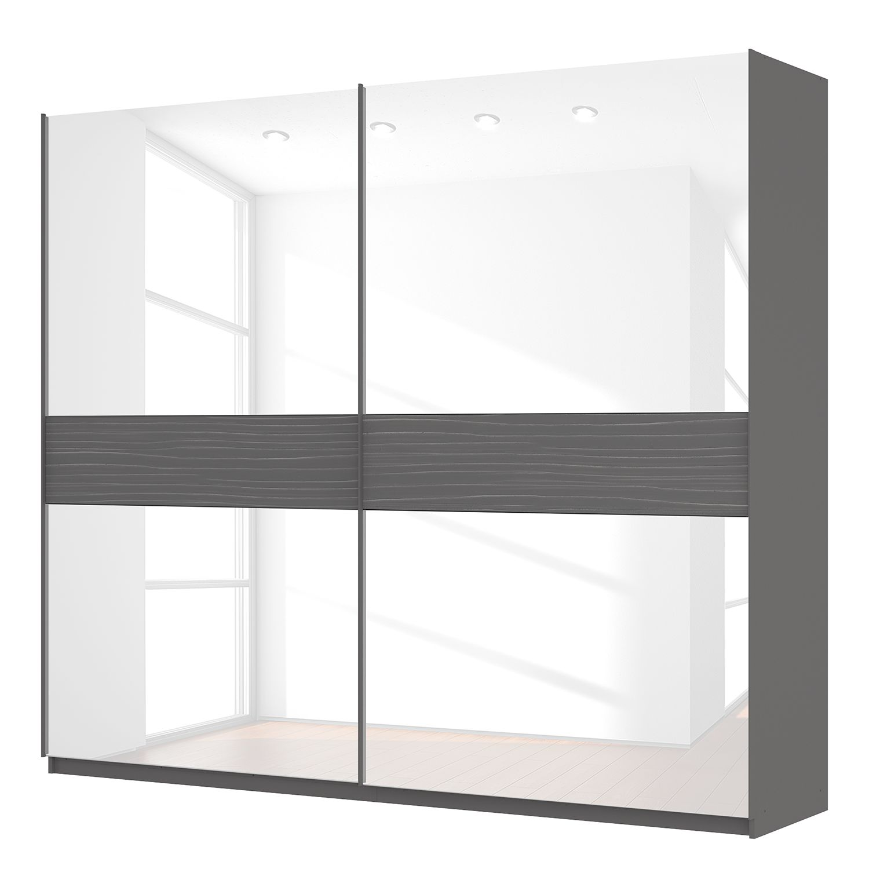 goedkoop Zweefdeurkast Skøp grafietkleurig wit glas 270cm 2 deurs 236cm Basic Skop
