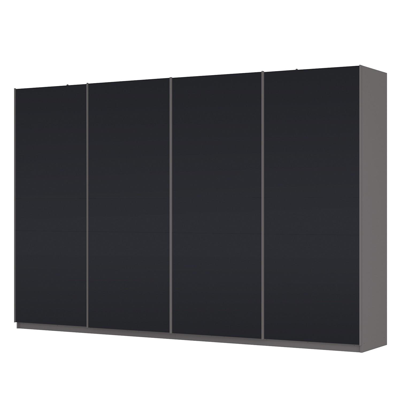 home24 Schwebetuerenschrank SKOEP | Schlafzimmer > Kleiderschränke > Schwebetürenschränke | Schwarz | Glas - Holzwerkstoff | SKOEP
