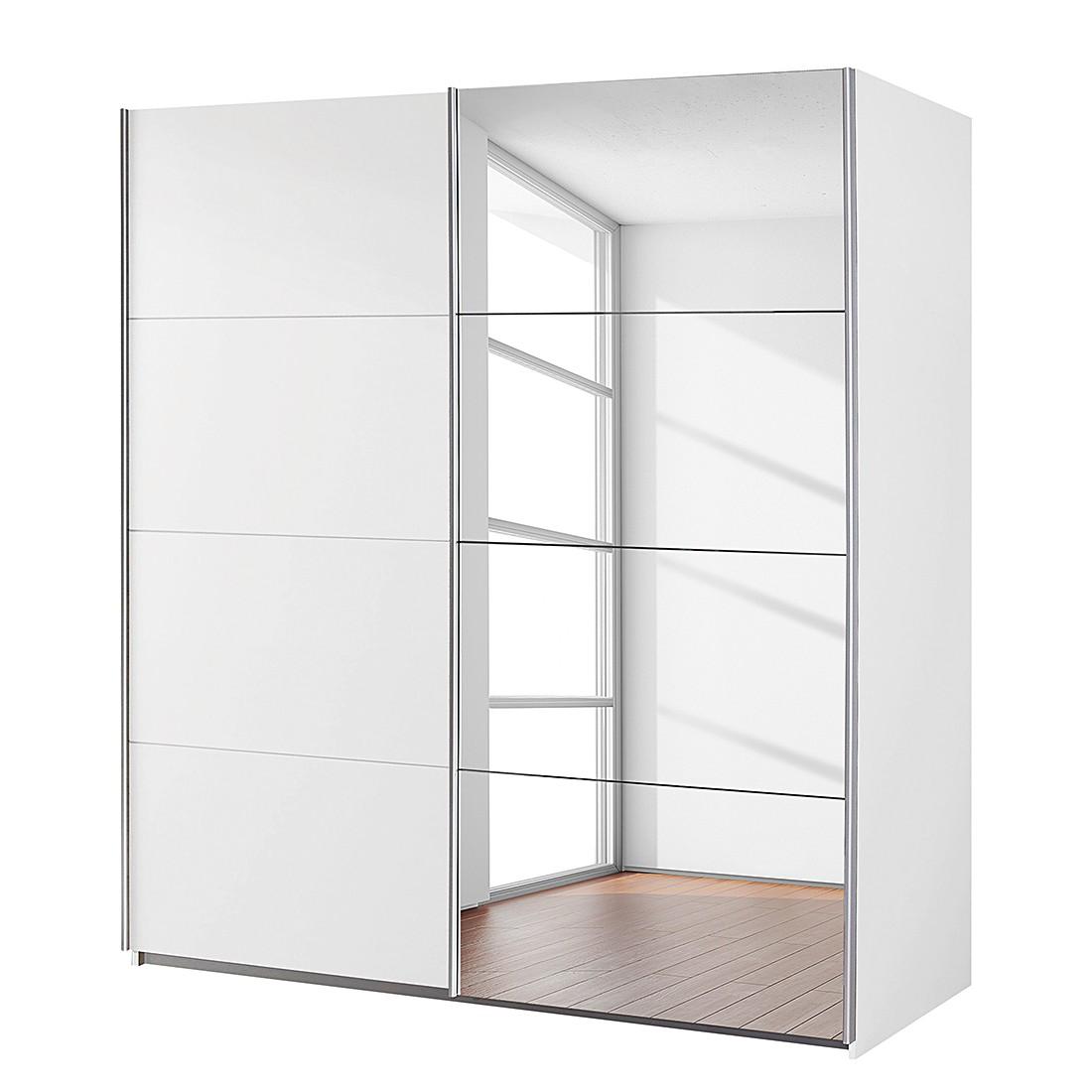 Zweefdeurkast goedkoop Subito 1 spiegeldeur Alpinewit 181cm 2 deurs Rauch Packs