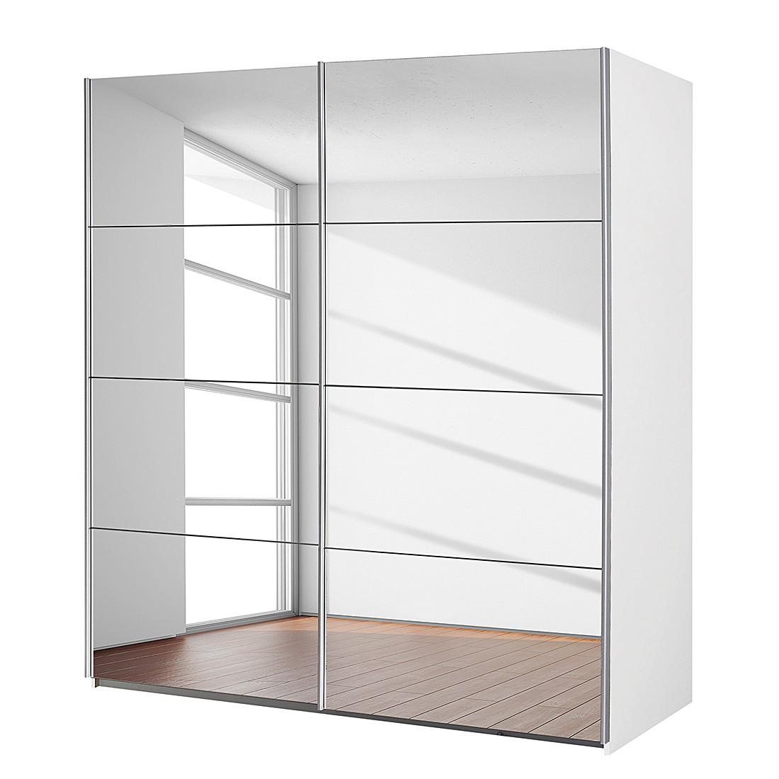 goedkoop Zweefdeurkast Subito 2 spiegeldeuren Alpinewit 136cm 2 deurs Rauch Packs