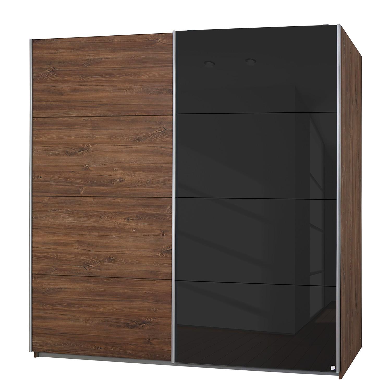 goedkoop Zweefdeurkast Subito Color Eikenhouten look zwart 181cm 2 deurs Rauch Packs