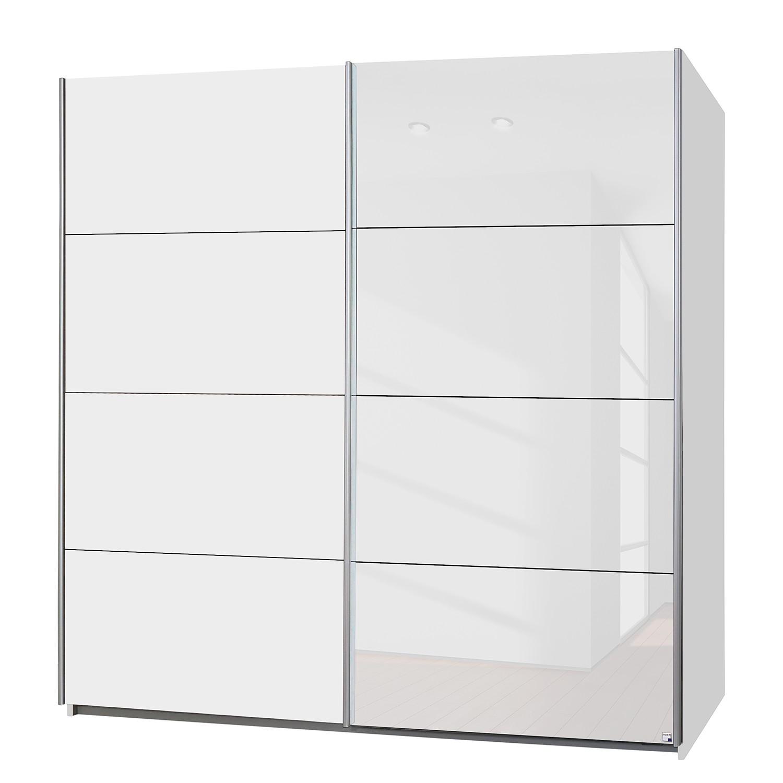 Zweefdeurkast Subito Color Wit 181cm 2 deurs Rauch Packs