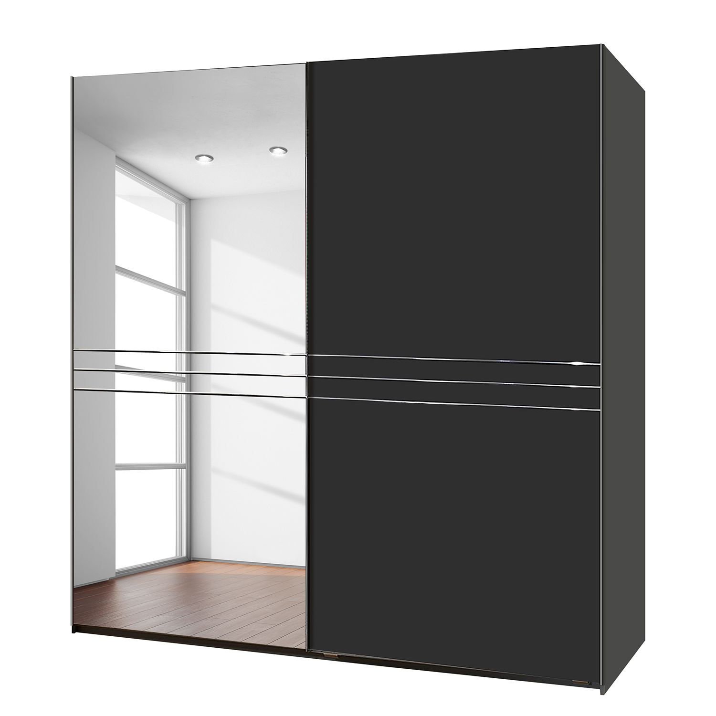 goedkoop Schuifdeurkast Medina lavakleur deels spiegel 200cm 2 deurs fresh to go
