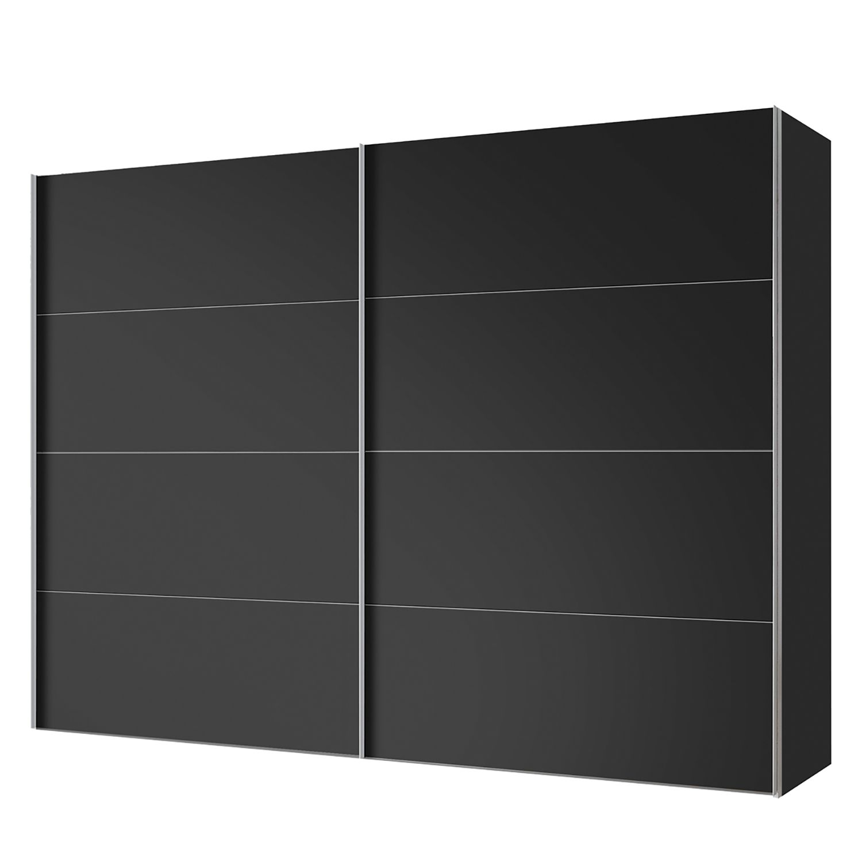 Zweefdeurkast Vancouver 250cm 2 deurs Express Mobel riant zwart