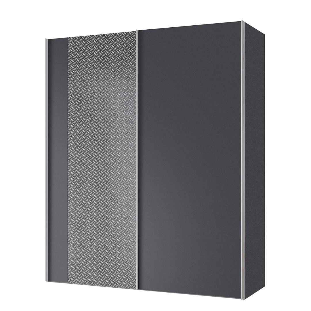 goedkoop Zweefdeurkast Cando Grijs Grafiet 150cm 2 deurs Express Mobel
