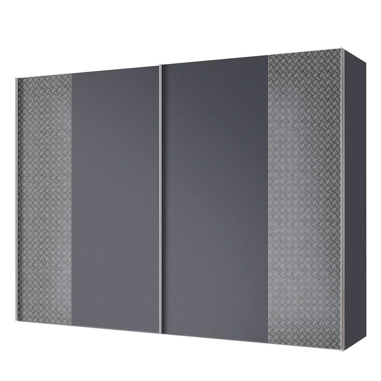 goedkoop Zweefdeurkast Cando Grijs Grafiet 250cm 2 deurs Express Mobel