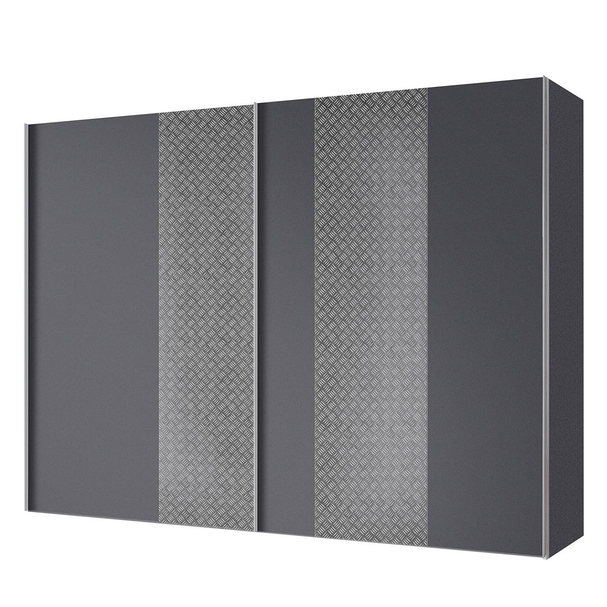 goedkoop Zweefdeurkast Cando Grijs Grafiet 300cm 2 deurs Express Mobel