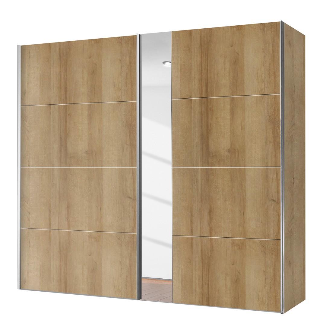 goedkoop Schuifdeurkast Willows Riviera eikenhouten look Spiegelglas 200cm 2 deurs Express Mobel