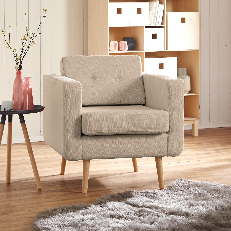 home24 Mørteens Sessel Croom V Cappuccino Webstoff 77x84x81 cm (BxHxT)