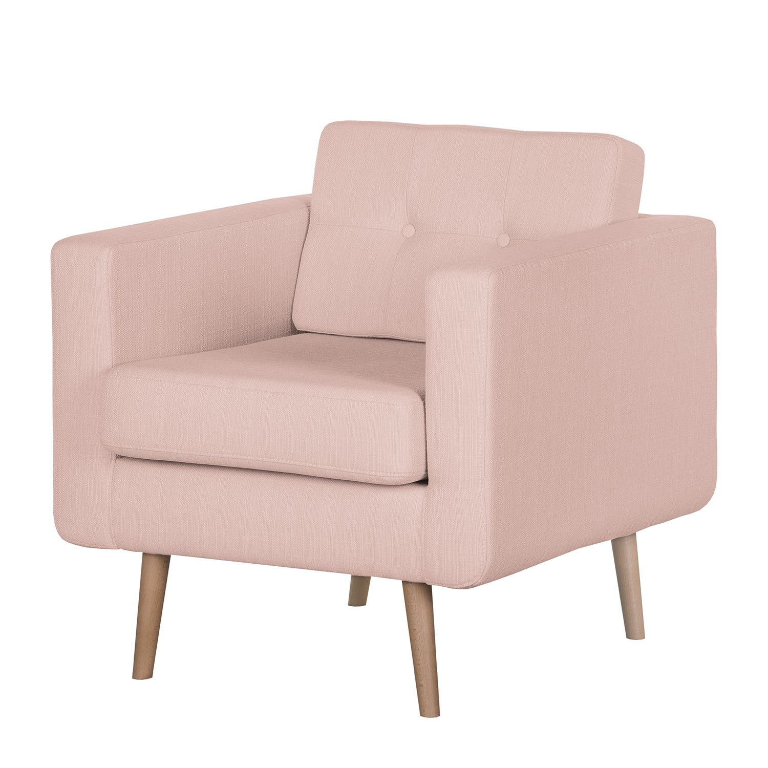goedkoop Fauteuil Croom V geweven stof Zonder hocker Mauve Morteens