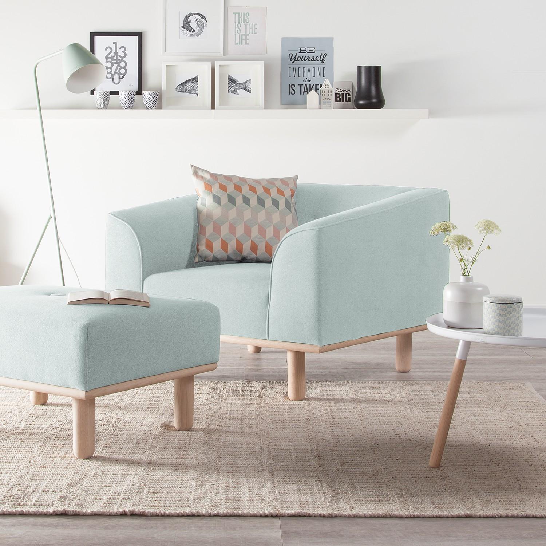 home24 Mørteens Sessel Aya Stahlblau Webstoff 100x72x90 cm (BxHxT)