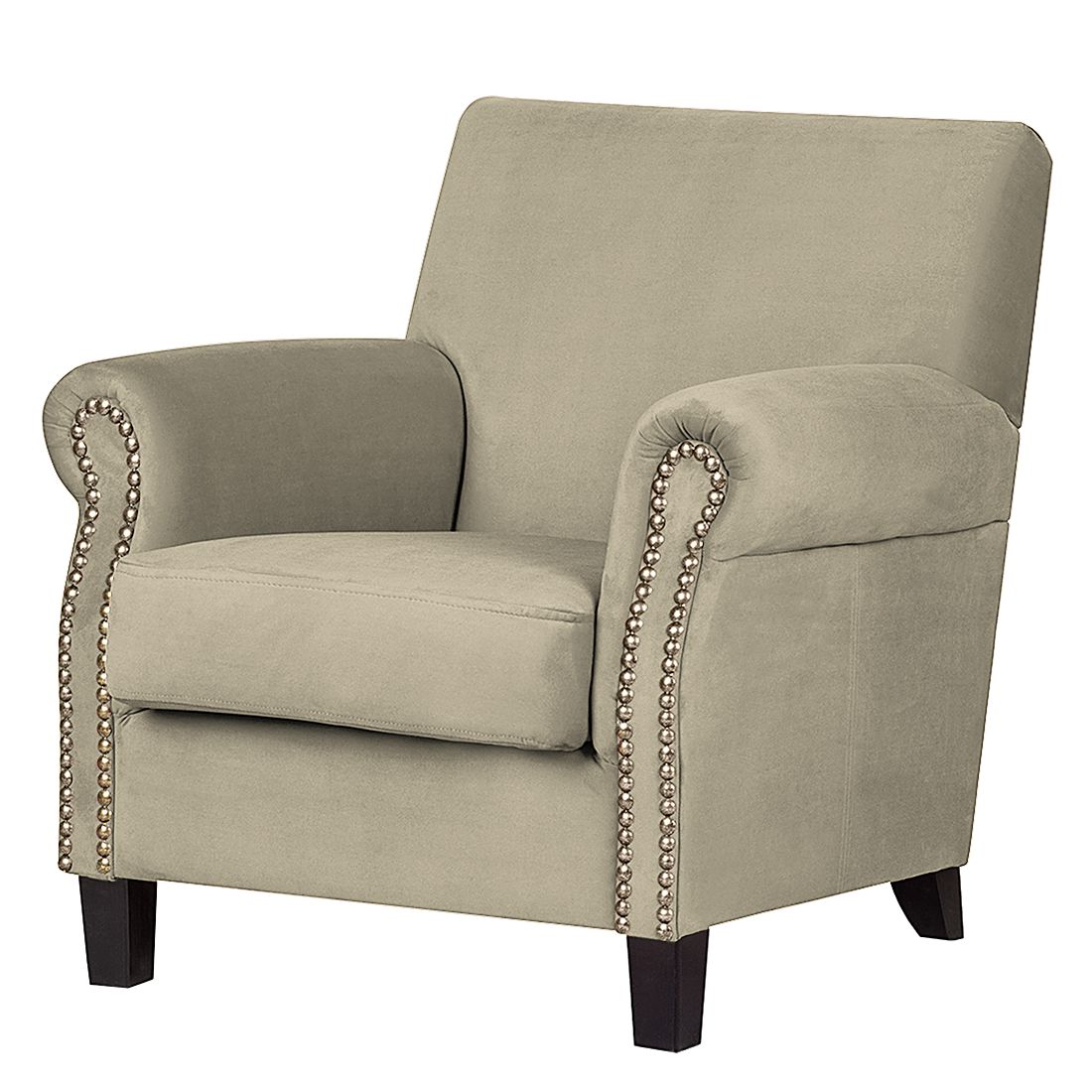 Fauteuil Bardi - Microfibre taupe, Jack and Alice