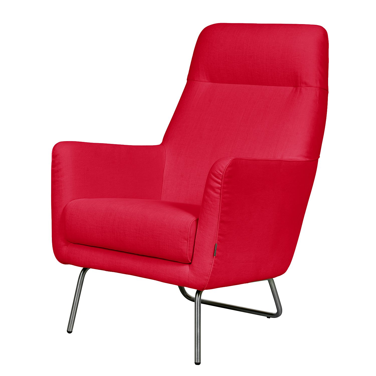 Fauteuil Bebour - Tissu - Rouge, Says Who