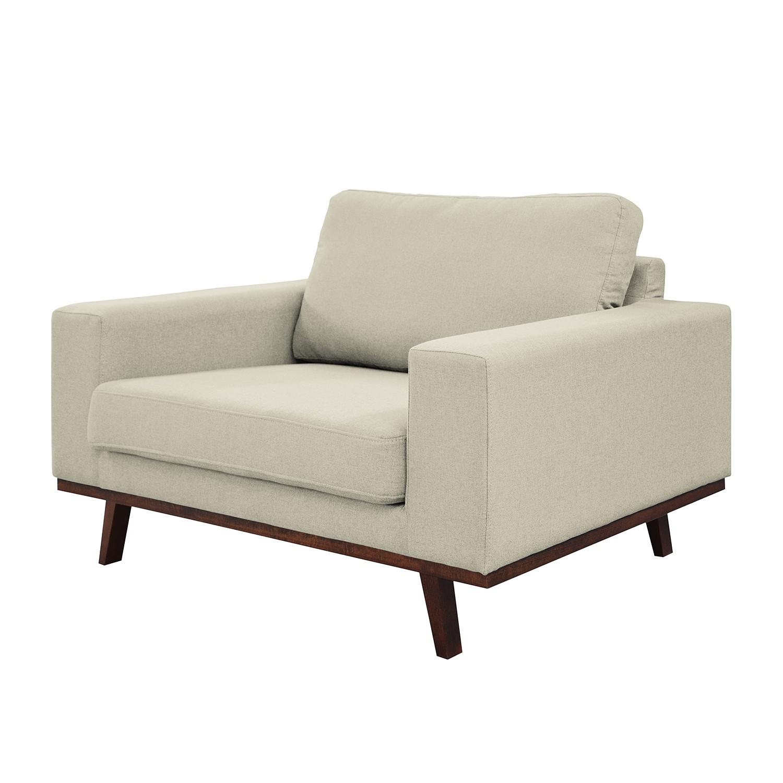 home24 Mørteens Sessel Billund Warmes Beige Webstoff 122x84x91 cm (BxHxT)