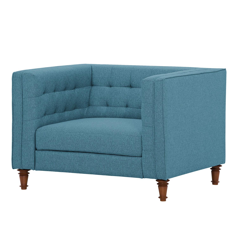 goedkoop Fauteuil Buckingham geweven stof Stof Ramira Turquoise Maison Belfort