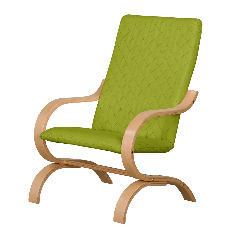 home24 Modoform Sessel Bueno Vista Grasgrün Strukturstoff 68x93x46 cm (BxHxT)