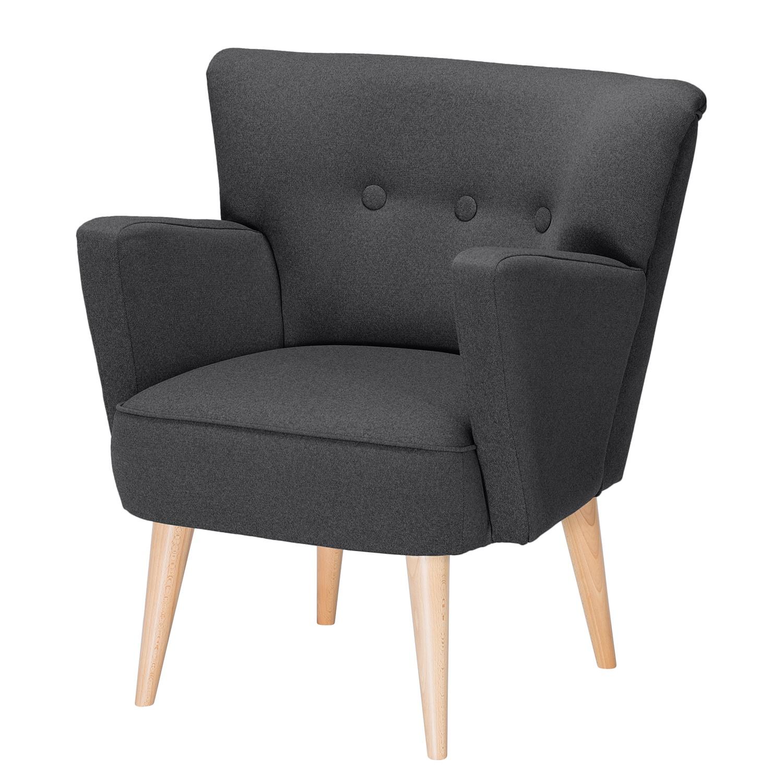 home24 Mørteens Sessel Bumberry Anthrazit Webstoff 75x80x64 cm (BxHxT)
