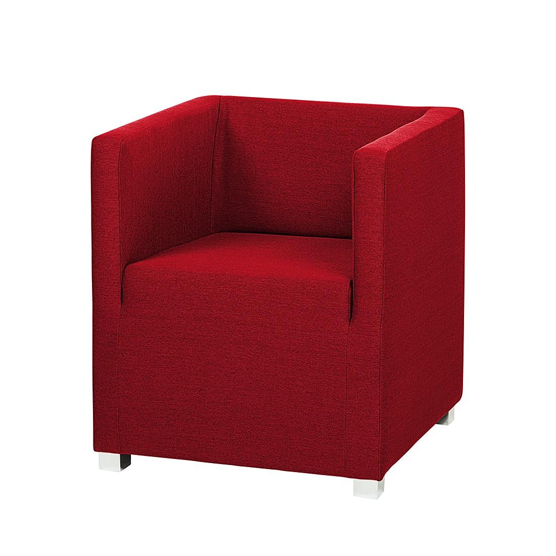goedkoop Fauteuil Carmen stof rood mooved