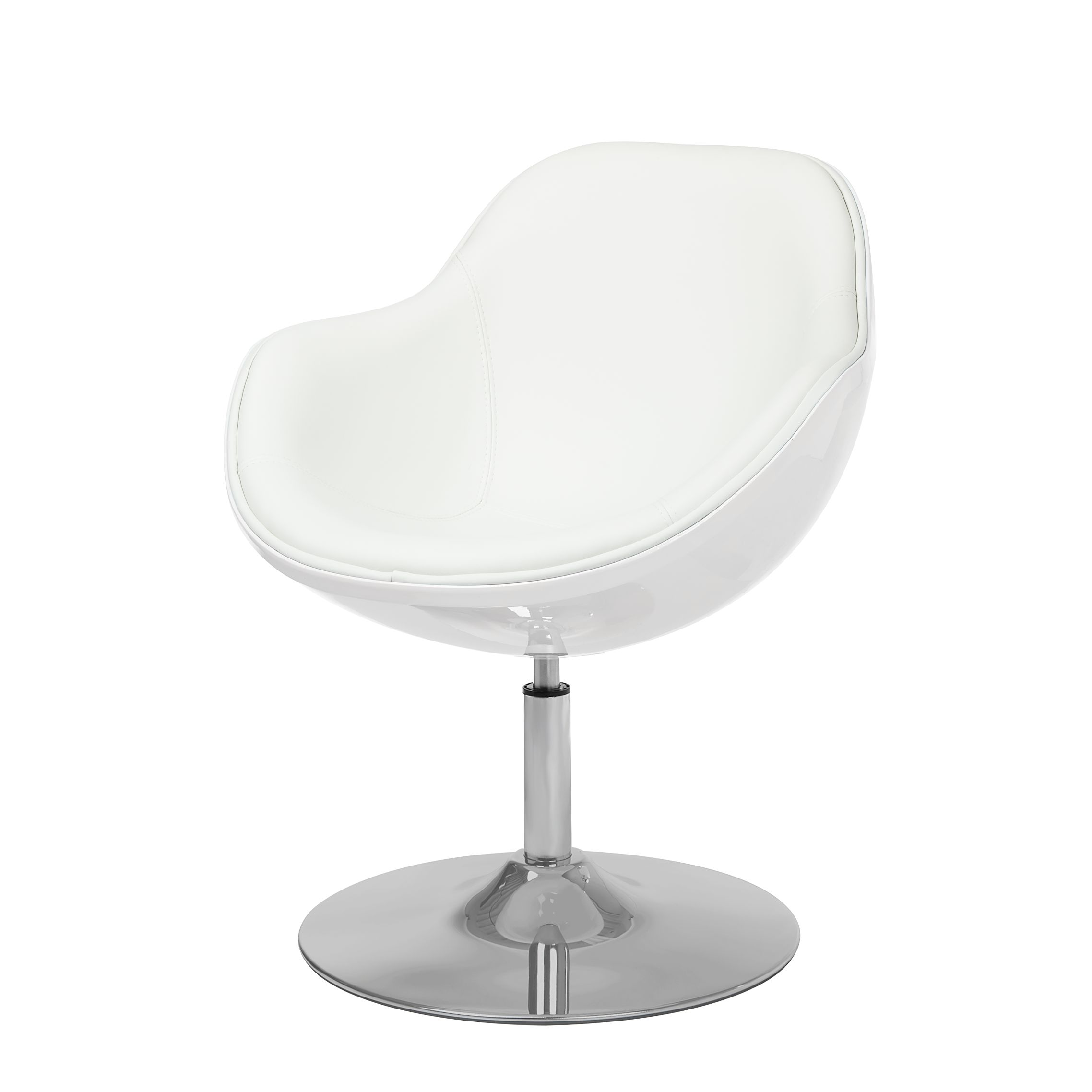 Poltrona Cartago - Materiale sintetico/Similpelle Bianco - Similpelle Veli Bianco II, Fredriks