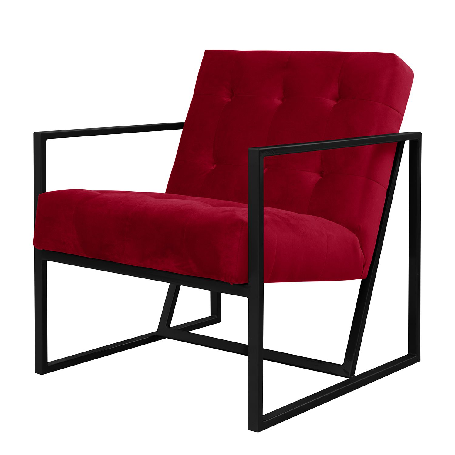 goedkoop Fauteuil Charm I microvezel Kersenrood Jack and Alice