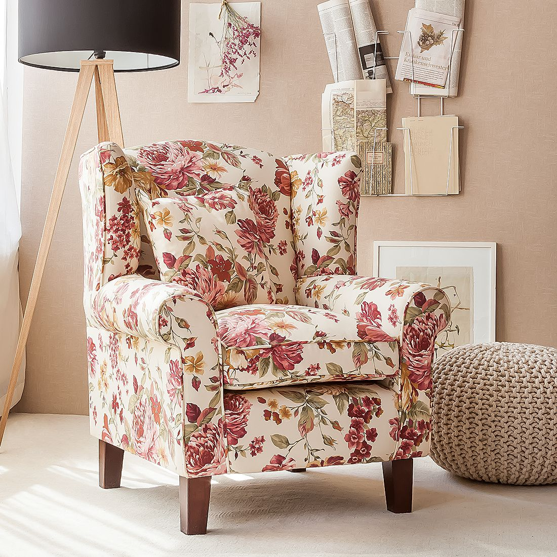 Home24 Fauteuil Red Rose, home24