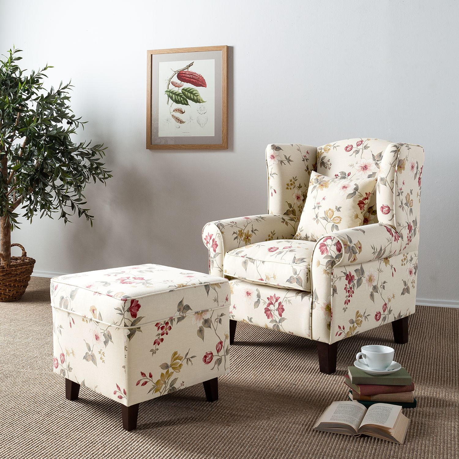 Sessel florales design williamflooring for Ohrensessel floral