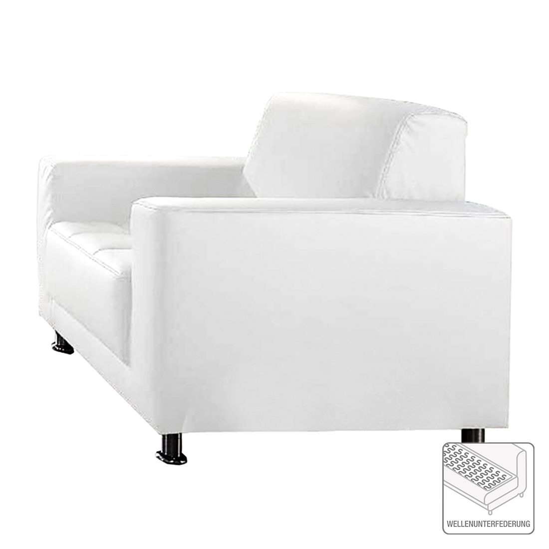 goedkoop Fauteuil Dallas kunstleer wit Home Design