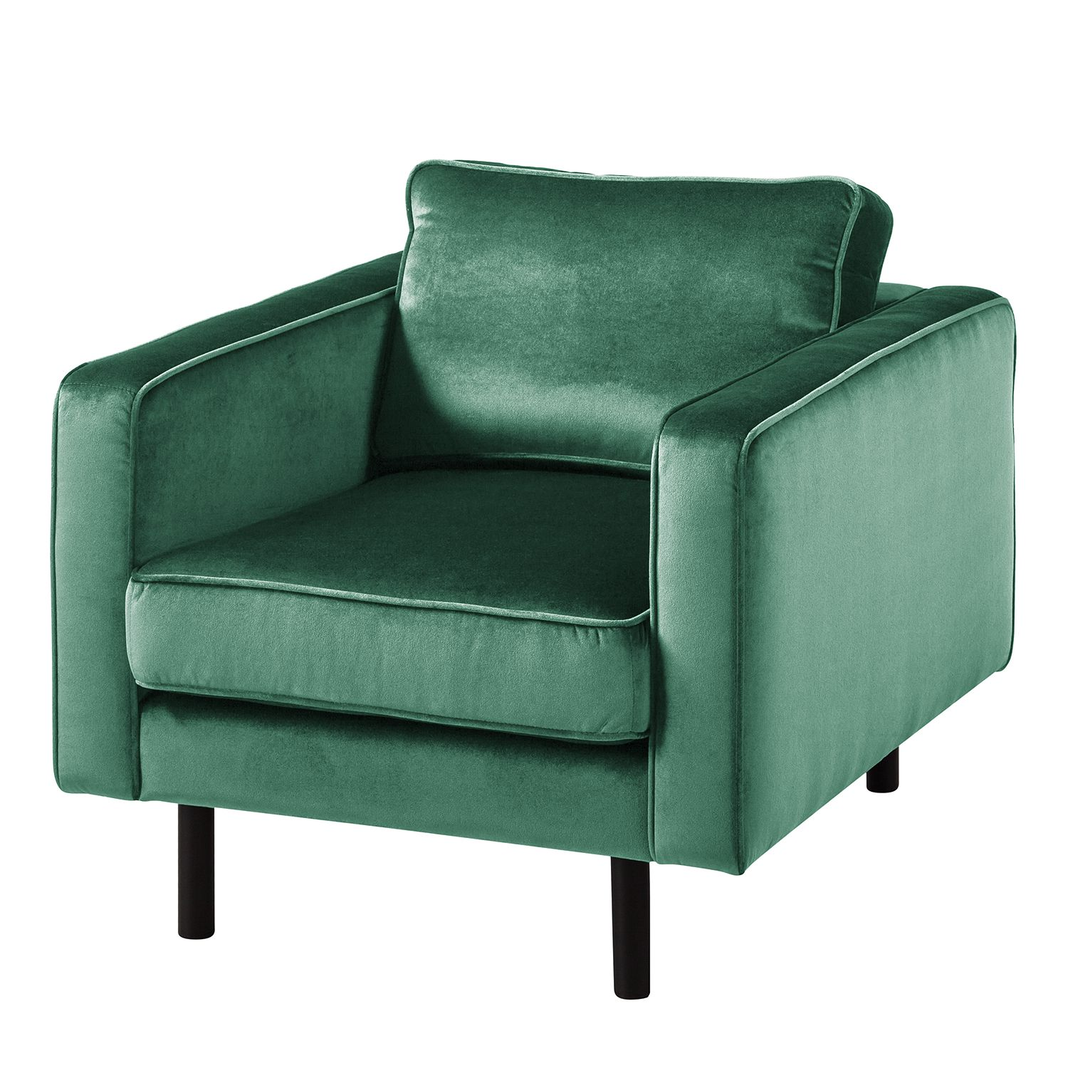 goedkoop Fauteuil Edina fluweel Zeegroen Eva Padberg Collection