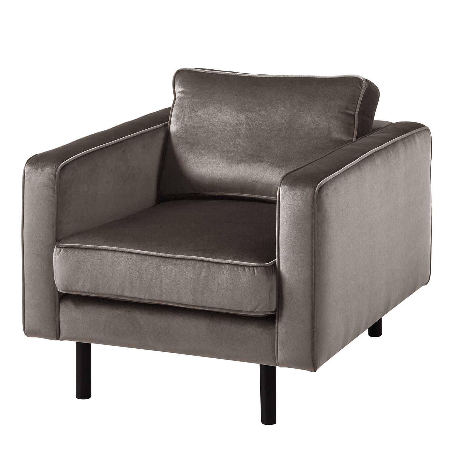 goedkoop Fauteuil Edina fluweel Nootmuskaat Eva Padberg Collection