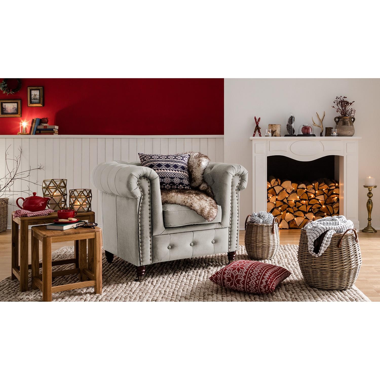 home24 Jack & Alice Sessel Esplanada Granit Samt 98x77x86 cm (BxHxT)