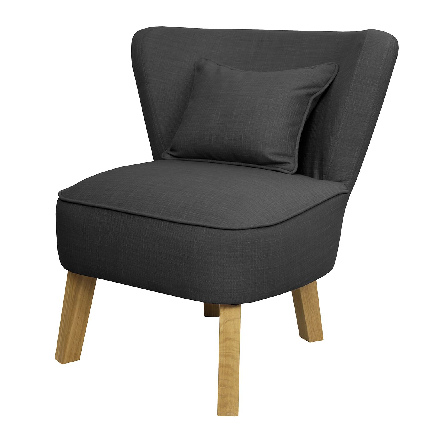 Fauteuil Freya I - Tissu Mauve - Anthracite, Morteens