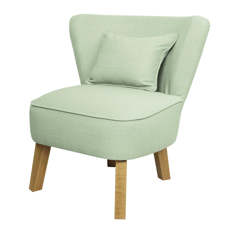 Poltrona Freya I - Tessuto Color malva - Verde pastello, Morteens