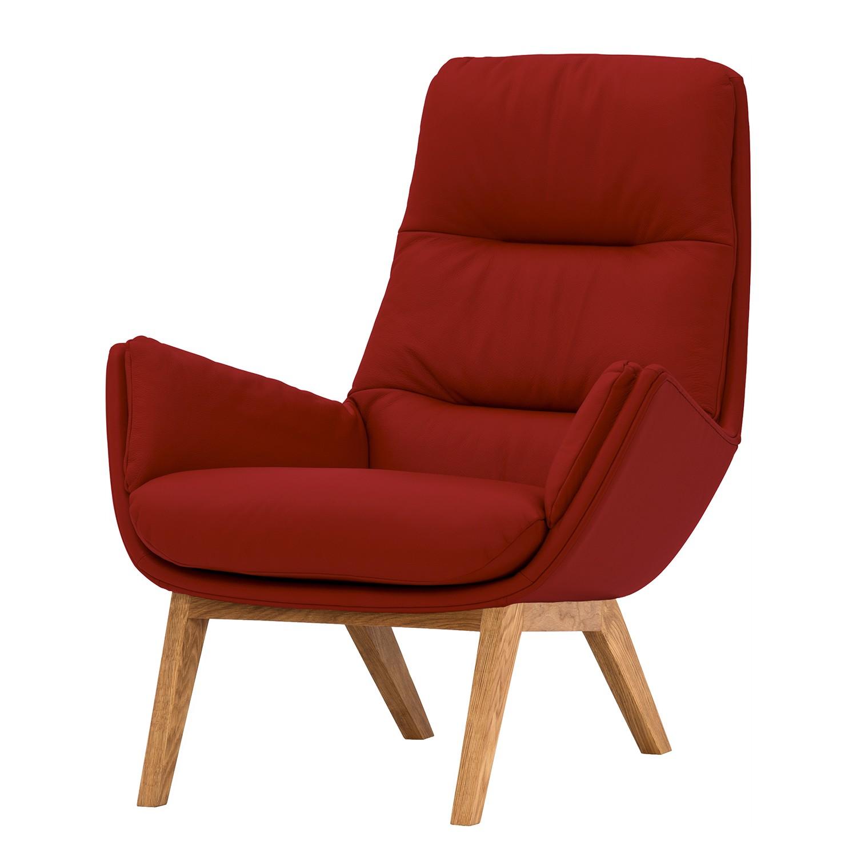 home24 Studio Copenhagen Sessel Garbo I Rot Echtleder 83x95x92 cm (BxHxT)