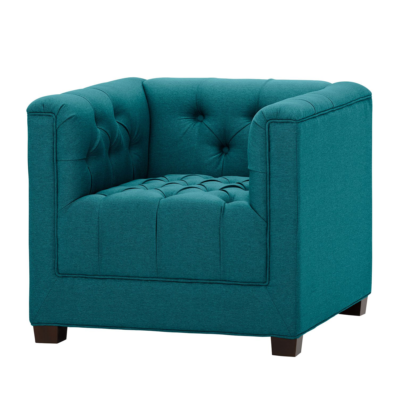 goedkoop Fauteuil Grand geweven stof Stof Ramira Turquoise Maison Belfort