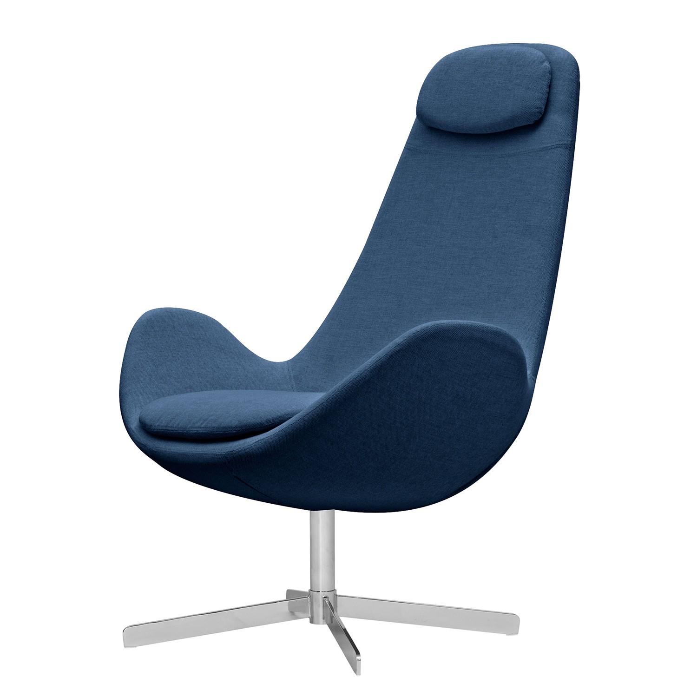 goedkoop Fauteuil Houston I geweven stof Chroom Stof Anda II Blauw Studio Copenhagen