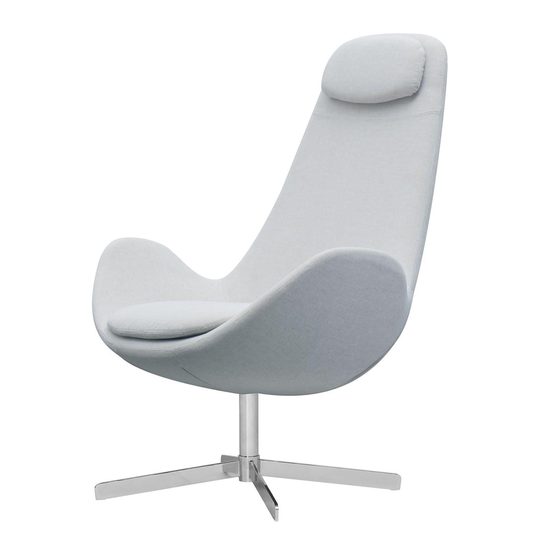 goedkoop Fauteuil Houston I geweven stof Chroom Stof Anda II Zilverkleurig Studio Copenhagen