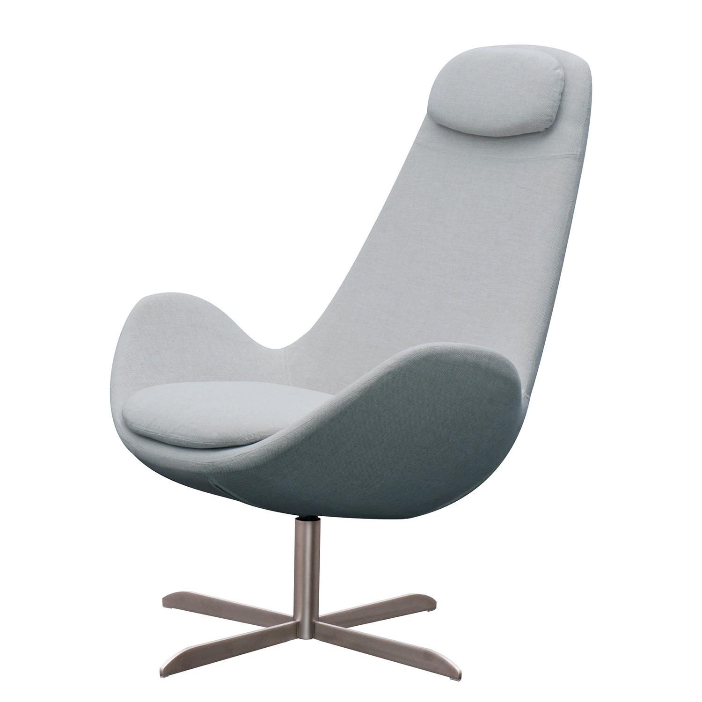 goedkoop Fauteuil Houston I geweven stof Roestvrij staal Stof Anda II Zilverkleurig Studio Copenhagen