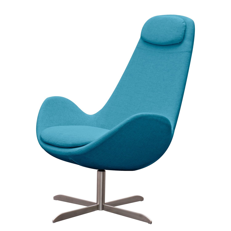 goedkoop Fauteuil Houston I geweven stof Roestvrij staal Stof Anda II Turquoise Studio Copenhagen