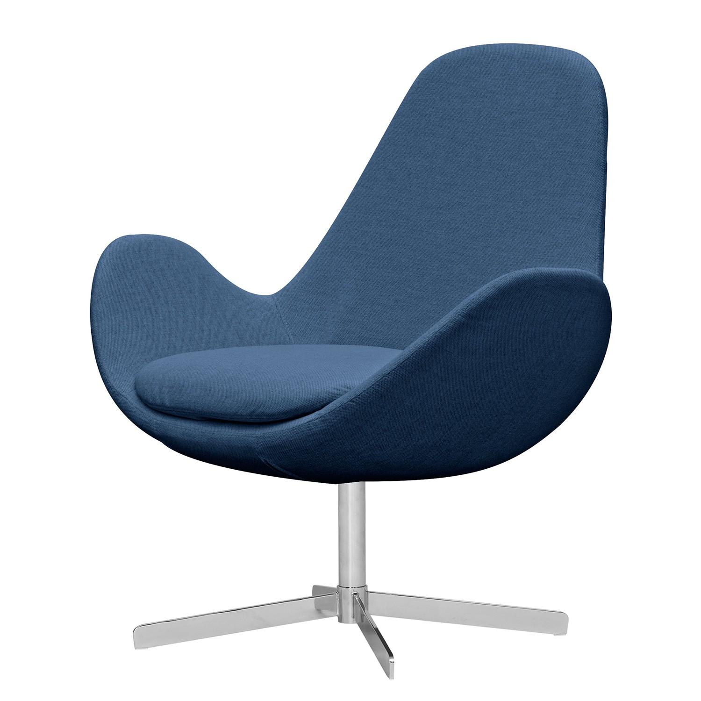 goedkoop Fauteuil Houston II geweven stof Chroom Stof Anda II Blauw Studio Copenhagen