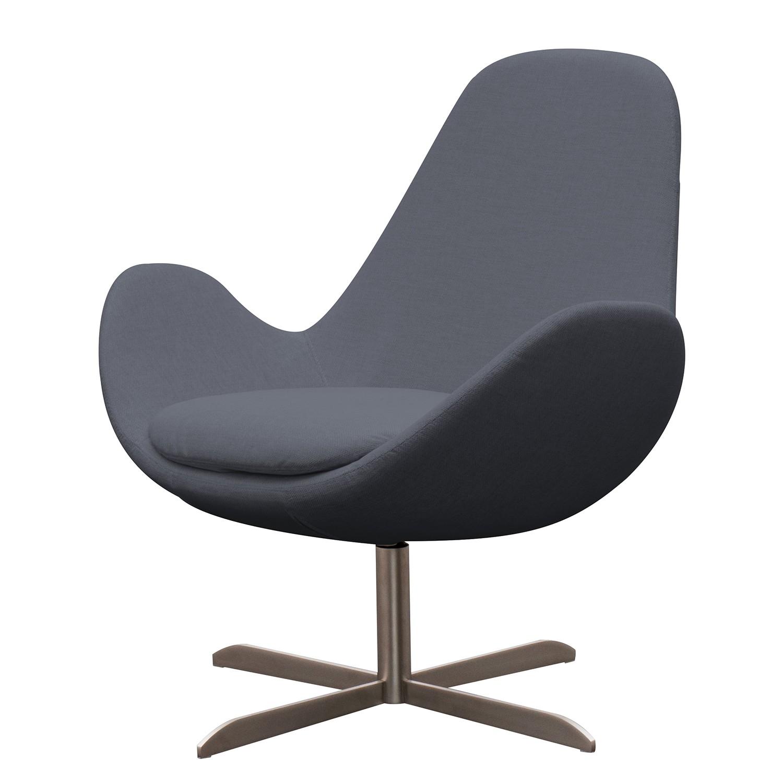 goedkoop Fauteuil Houston II geweven stof Roestvrij staal Stof Milan Antraciet Studio Copenhagen