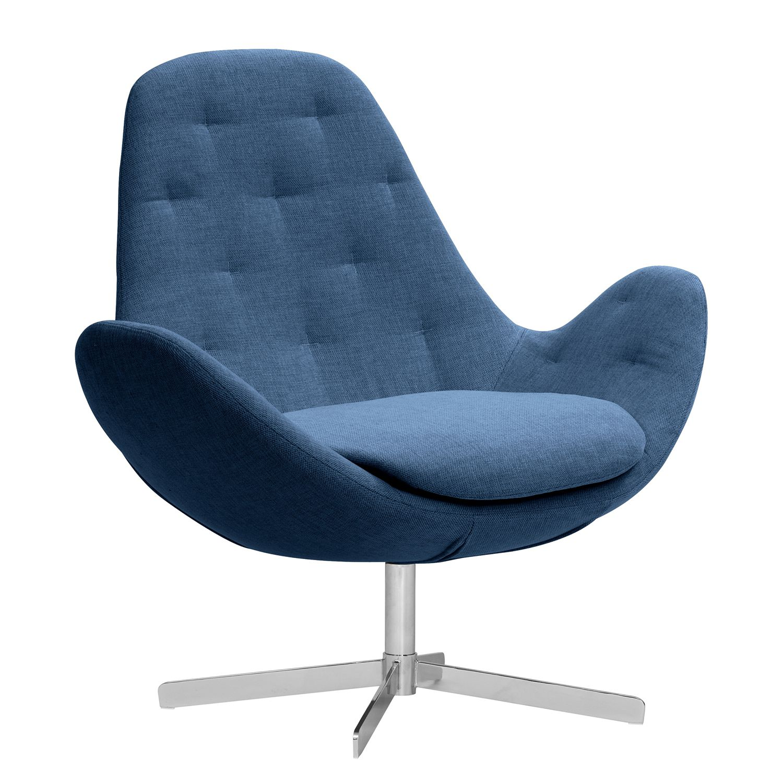 goedkoop Fauteuil Houston IV geweven stof Chroom Stof Anda II Blauw Studio Copenhagen