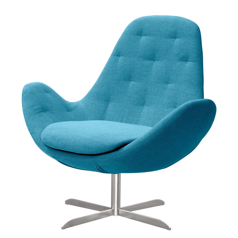 goedkoop Fauteuil Houston IV geweven stof Roestvrij staal Stof Anda II Turquoise Studio Copenhagen