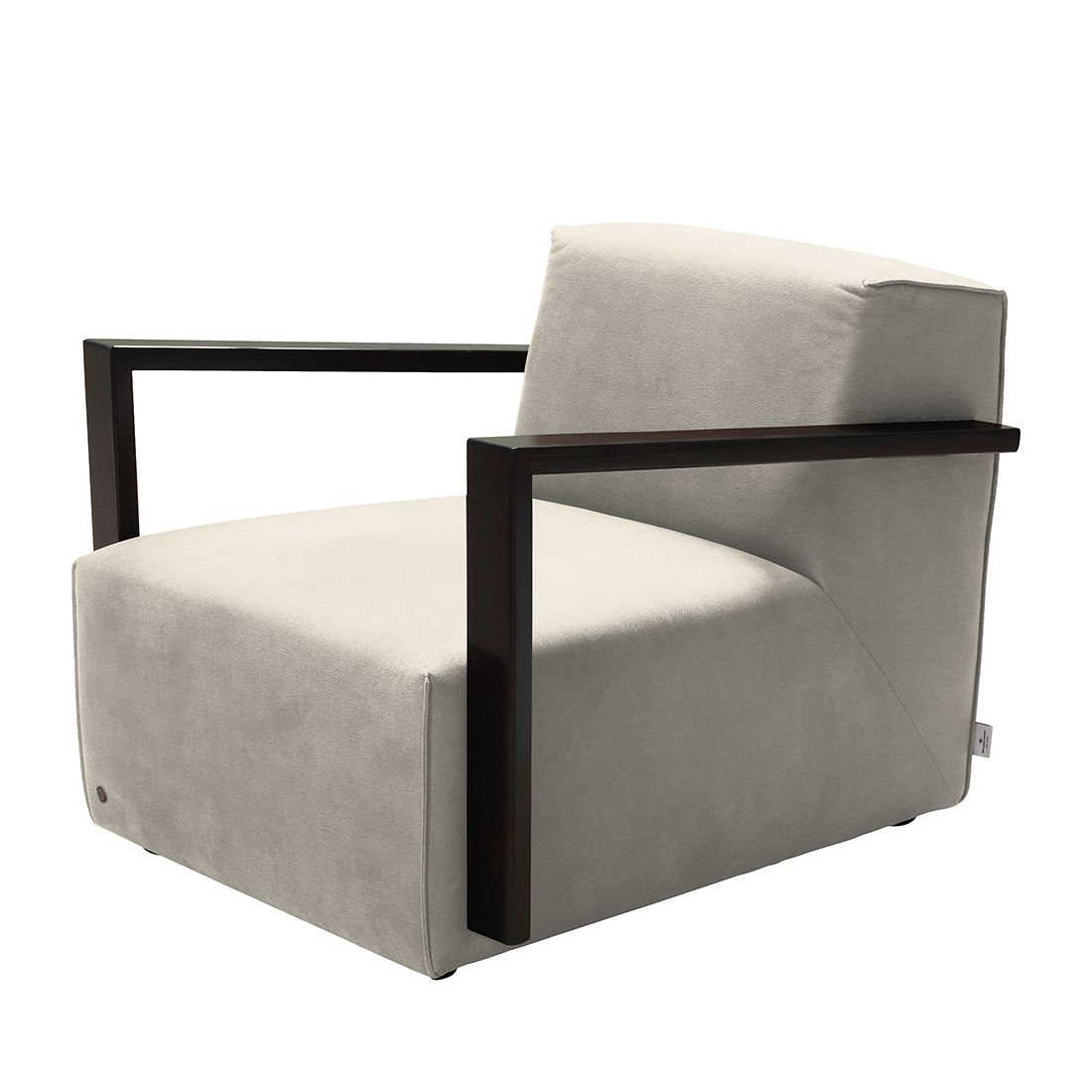 goedkoop Fauteuil Lazy antiekleren look Zonder hocker Beige Tom Tailor