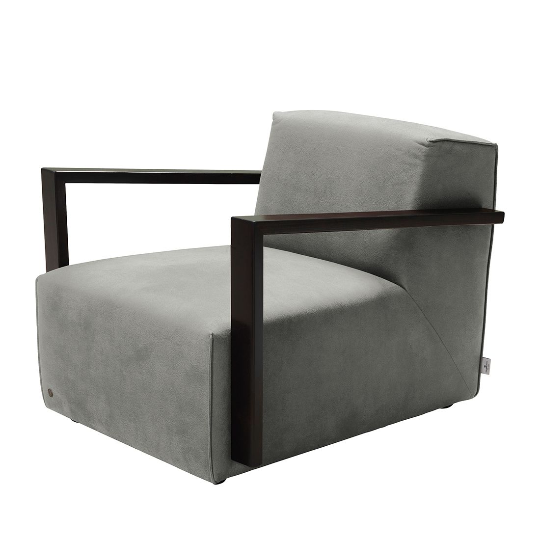 goedkoop Fauteuil Lazy antiekleren look Zonder hocker Grijs Tom Tailor