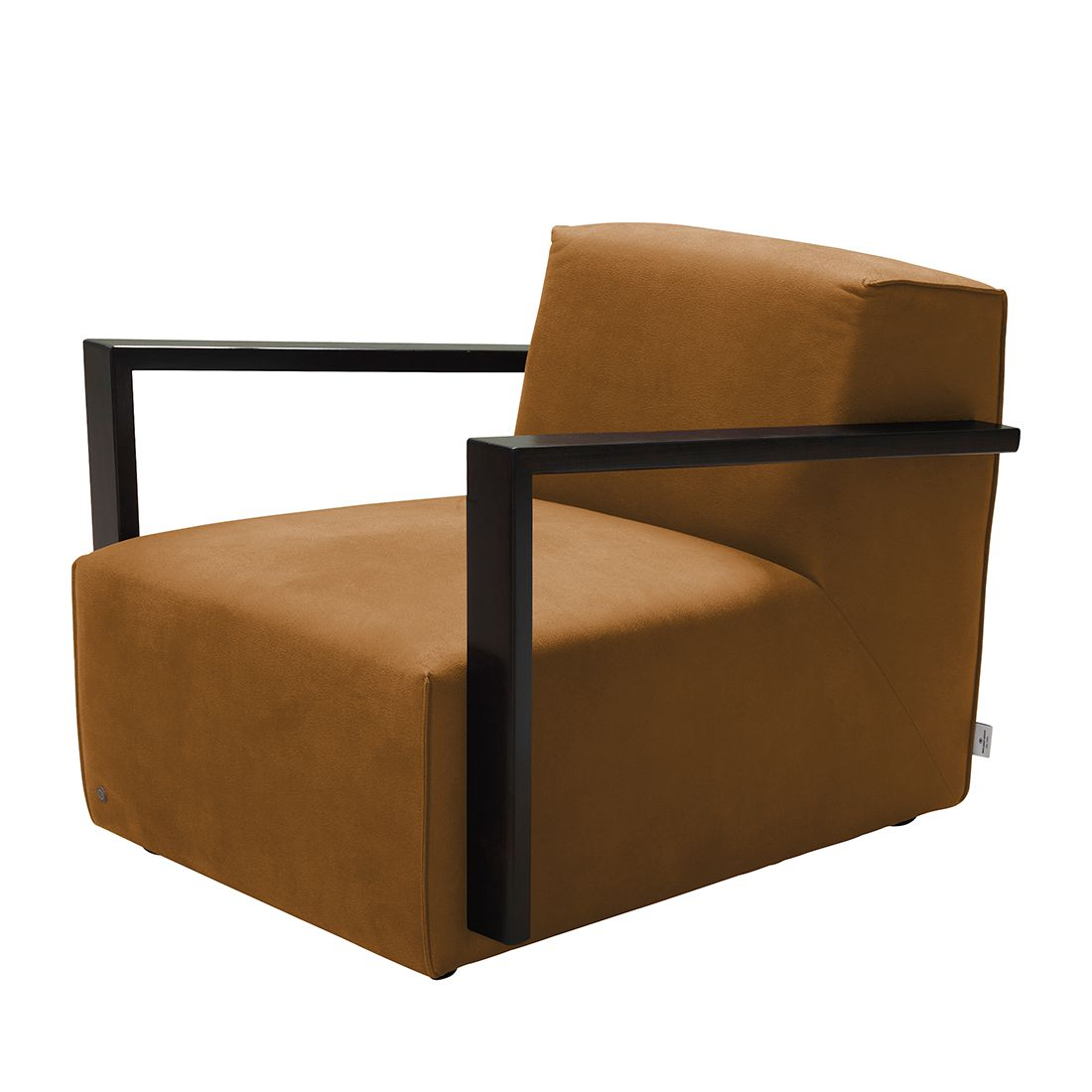 goedkoop Fauteuil Lazy antiekleren look Zonder hocker Lichtbruin Tom Tailor