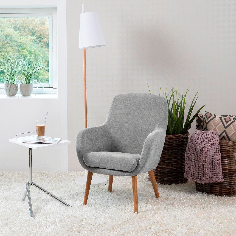home24 Mørteens Sessel Livengood Grau Microfaser 72x88x72 cm (BxHxT)